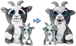 William Mark Feisty Pets Junkyard Jeff and Mini Junkyard Jeff Dorable Plush Stuffed Goats That Turns Feisty with a Squeeze