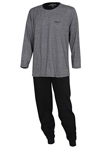KB Socken Schlafanzug Pyjama Hausanzug Nachtwäsche Herren Baumwolle Moonline Nightwear (grau, L)