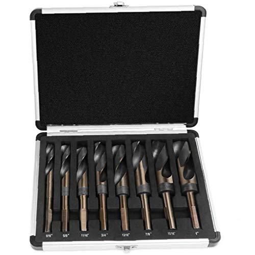 TOPofly Deming Drill Bit Set Silber High Speed ??Steel Spiralbohrer mit Carry Case 8pcs Praktische Werkzeuge