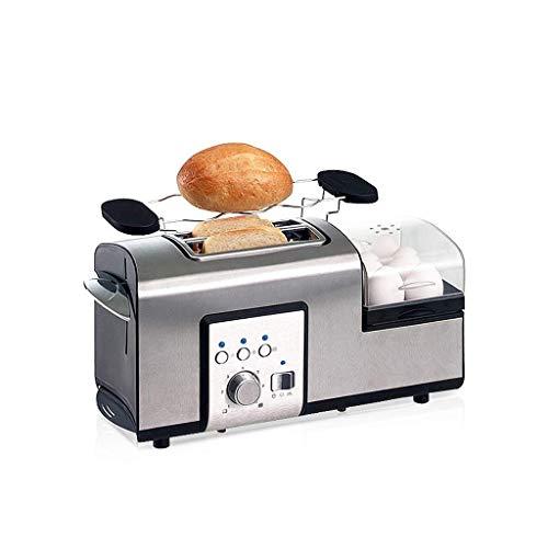 TWDYC 2 Scheiben Toaster, Horizontal und herausnehmbares Brot Krümelschublade, Design, Edelstahl Toasted Gedämpfter Ei Silber 405 * 195 * 200mm