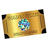 Golden Ticket Scratch Off Game - (30 Pack) Scratch Cards - Customer Appreciation - Employee Appreciation - Trade Show Instant Scratch & Win Game – Classroom Scratch & Win