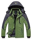 Wantdo Chaqueta Snowboard Montaña Invierno Militar Hombre Gris Oscuro y Verde Medium