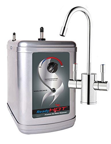 Ready Hot RH-200-F560-CH Instant Dispenser, 9 x 8 x 11.5 inches, Includes Chrome Hot and Cold Water Faucet