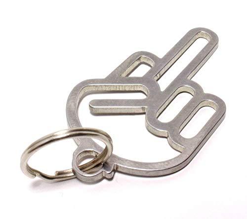 Fuck You | Off Hand Schlüsselanhänger aus Edelstahl - Shocker Keychain - Dub DUBWAY
