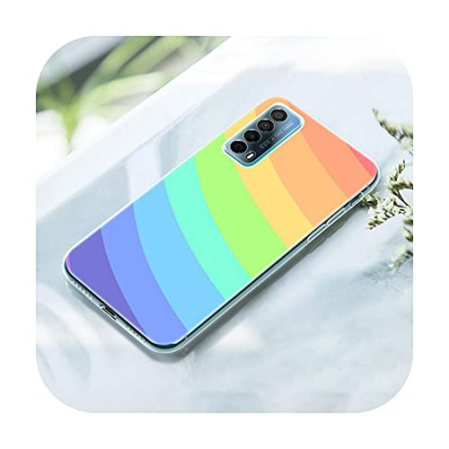 Rainbow Art - Funda de silicona para Huawei P50 Pro P40 Lite E P30 Pro P10 Plus P20 Lite P Smart Z 2021 Pro 2019 Soft Cover-010-P Smart 2020