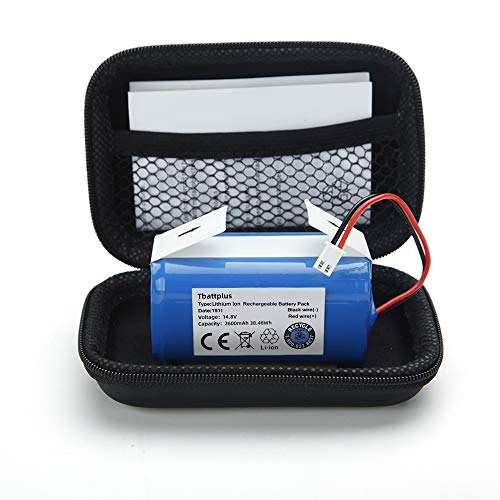 Replacement Battery Pack for Shark Ion Robot RVBAT850 Battery for RV700_N, RV720_N, RV725_N, RV761, RV850, RV850BRN, RV850C, RV850WV, RV851WV, RV871, RV871C ,RV1000S,UR1000SR,2 Prong 14.4V 2600mAh