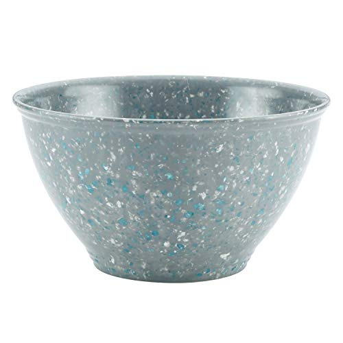 Rachael Ray Multi Purpose/Salad Serveware/Melamine Garbage Bowl, 4 Liters, Sea Salt Gray