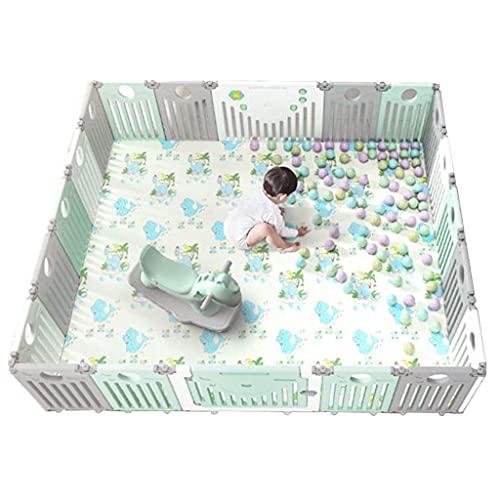 XCTLZG Gran Parque para bebés, plástico, Plegable, portátil, Separador de ambientes, Barrera para niños, 20 Paneles expandibles, Intercambiables en octágono, rectángulo, Cuadrado, triángulo como