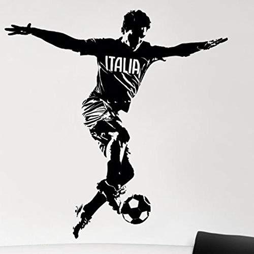 Slmxx Italia Fußballspieler Wandaufkleber Sport Aufkleber Kinderzimmer Dekoration Poster Vinyl Auto Fußballspieler Aufkleber Größe 58X58Cm