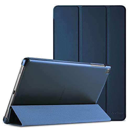 ProHülle Hülle für Galaxy Tab A 10.1 2019 (T510 T515 T517), Ultra Dünn Leicht Smart Hülle, Leichte Stand Schutzhülle Shell mit Translucent Frosted Rückhülle -Navy