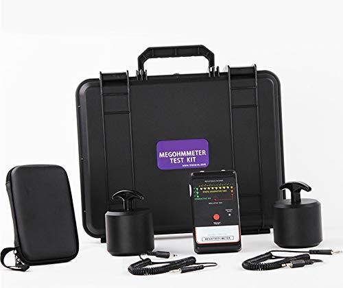 Hanchen Surface Resistance Tester Insulation Tester Megohmmeter Anti Static Tester Heavy Hammer Surface Resistance Measuring Instrument High Resistance Meter (Megohmmeter Test Kit)