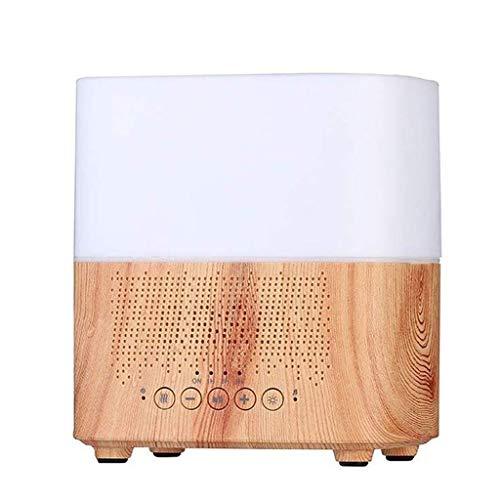 WZHZJ Humidificador, humidificador for Uso Particular, el Reloj Inteligente de Audio aromaterapia Máquina ultrasónica de Colores de Madera del Grano humidificador (Color : A)