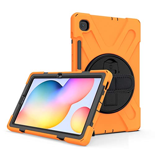 Protective case For Samsung Galaxy Tab S6 Lite P610 Shockproof Colorful Silicone + PC Protective Case with Holder & Shoulder Strap & Hand Strap & Pen Slot, Simple and practical ( Color : Orange )
