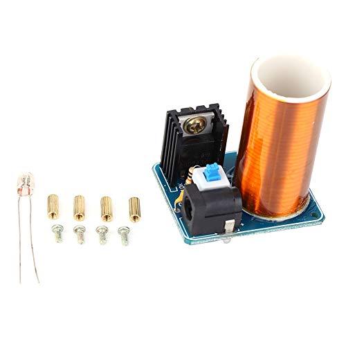 Yagosodee Mini Tesla Spule Fernbedienung LED Funken Modul Kit Elektronische DIY Kit DC12V (Fertig Produkt) Bronze Blau