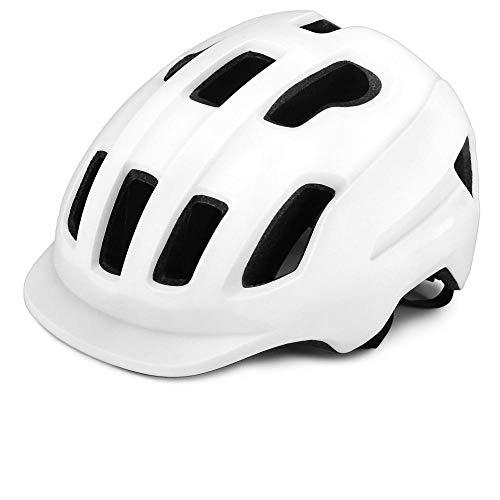 SFBBBO Casco Bicicleta Casco de Bicicleta de montaña con Visera Casco de Bicicleta de Ciclismo Hombres Mujeres Deportes Casco de Seguridad al Aire Libre Blanco