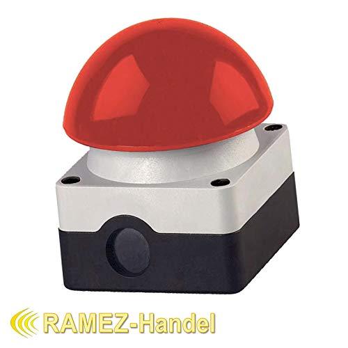 Grobhandtaster Fußtaster Pilstaster Taster IP 65 Aufputz Tor Antrieb Garagentor (Rot)