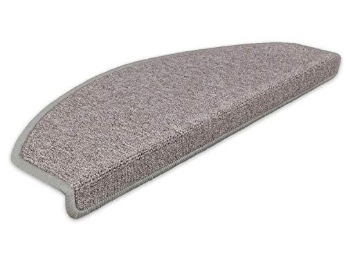 Kettelservice-Metzker Stufenmatten Treppen-Teppich Rambo 15er SparSet 17 Farben (Taupe)