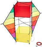 [page_title]-HQ 106373 - F-Box Beach Rainbow Kastendrachen Einleiner, ab 8 Jahren, 85x100cm, inkl. 17kp Polyesterschnur 40m auf Spule, 1-5 Beaufort