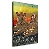 Skydoor J パネル ポスターフレーム ライオンズ 猫 毛皮 男性 大きな 動物 プレデター インテリア アートフレーム 額 モダン 壁掛けポスタ アート 壁アート 壁掛け絵画 装飾画 かべ飾り 50×40