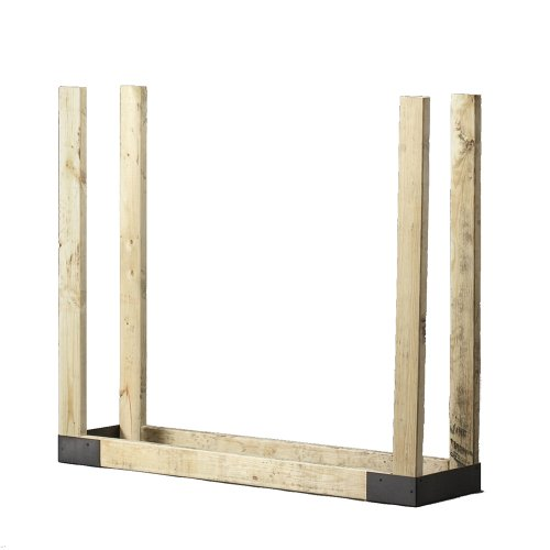 4 Ft. Firewood Rack with Cover, Steel Fire Wood Log Holder for Indoor/Outdoor