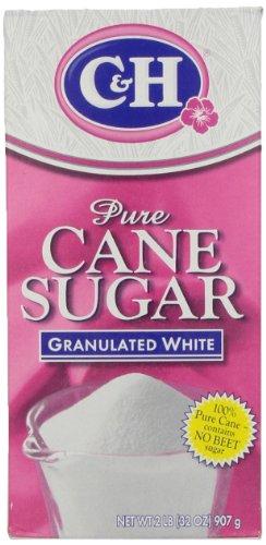C&H Pure Cane, Granulated White Sugar, 2 lb