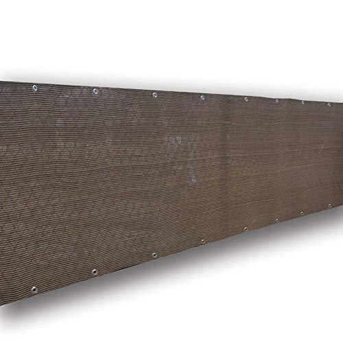 Filet d'ombrage Chiffon de Chiffon pour Pare-brise de Terrasse de Balcon, Bâche en Filet de Qualité Commerciale avec Œillets, 80% Écran Solaire, Marron (Size : 1.2×6m)