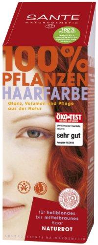 Sante Pflanzen-Haarfarbe Pulver Naturrot 100g