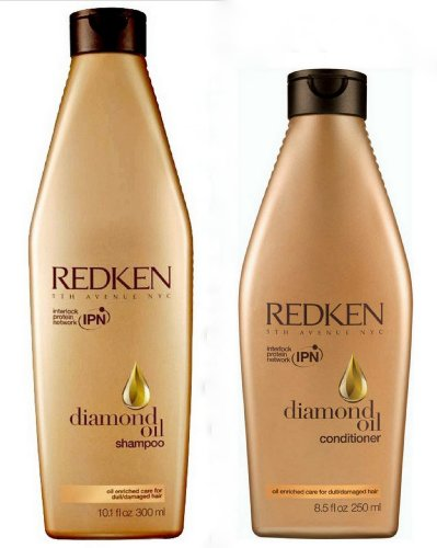 Redken Diamond Oil Glow Dry Set - Shampoo 300ml und Conditioner 250ml