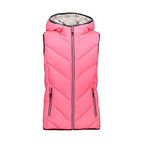CMP Chaleco acolchado con capucha para niña., Niñas, Chaleco, 30Z1835B, Pink Fluo, 152