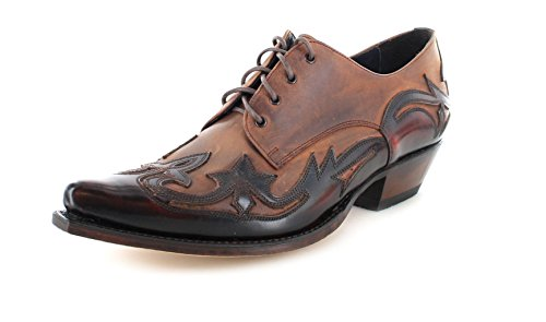 Sendra Boots Stiefel 10066 Rot Braun Westernschuh Schnürschuh