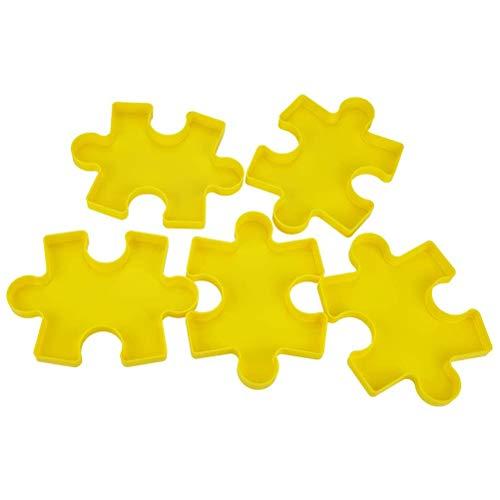 Bandeja de Puzzle, Bandeja de Clasificación de Puzzle Apilable de 6 Piezas con Tapa Transparente, Soporte de Plástico para Puzzle, Caja de Almacenamiento de Puzzle Accesorios Puzzle, Hasta 1500 Piezas