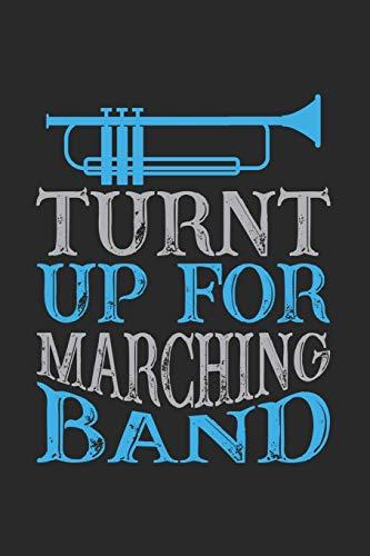 Turnt up for marching band: Trompete Notizbuch liniert DIN A5 - 120 Seiten für Notizen, Zeichnungen, Formeln | Organizer Schreibheft Planer Tagebuch