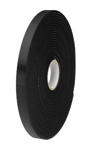 Tape Logic t9561162pk Polyethylen Schaumstoff Doppelseitiges Klebeband, 1/40,6cm Dick, 36Yards Länge x 3/10,2cm Breite, Schwarz (Fall von 2)