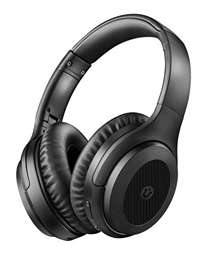 Noise Cancelling Headphones, Utaxo Wireless Over Ear Headphones Bluetooth 5.0 with HiFi Sound & Quick Charge, Bluetooth Headphones with cVc 8.0 Mic, 30 Hrs Playtime for Cellphone Travel Work