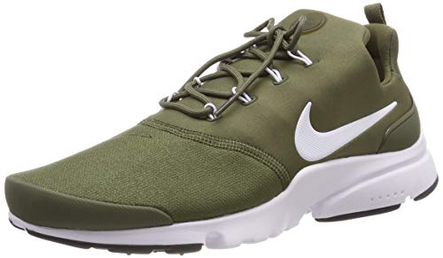 Nike Presto Fly Mens Running Trainers 908019 Sneakers Shoes (UK 8.5 US 9.5 EU 43, Medium Olive White Black 204)