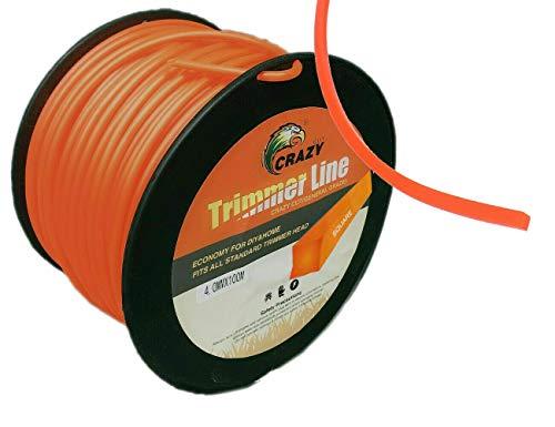 Topolenashop - Hilo para desbrozadora, corte de hierba cuadrado, 2,7 mm, bobina de 100 metros