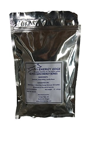 25pack Energy Edge GlycoGen Bones Energy Supplement for Working Dogs and Canine Athletes… Veterinarian formulated… Made in USA!
