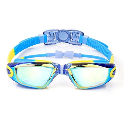 Foluton Schwimmbrille Kinder Alter 3-10 Jahre für Kinder Junior Jungen Mädchen Technologie – Klare Sicht – Wasserdicht – Angenehm – Verspiegelt hergestellt beschichtet mit frei Schutz