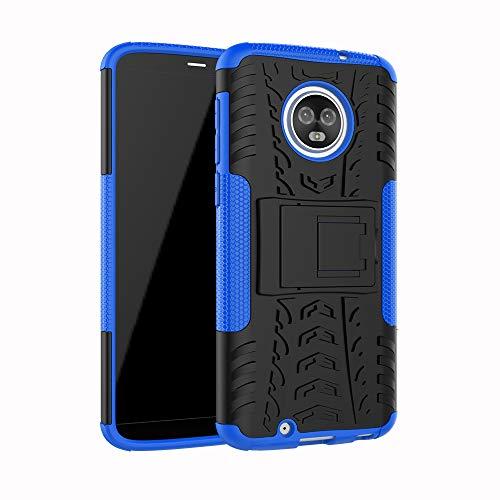 betterfon | Outdoor Handy Tasche Hybrid Hülle Schutz Hülle Panzer TPU Silikon Hard Cover Bumper für Motorola Moto G6 Blau