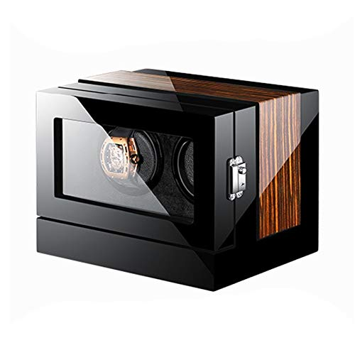 LJP Reloj automático Winder Smart Touch Screen Watch Winder Box para 2 relojes Silent Motor se adapta a la mayoría de cajas de almacenamiento mecánicas