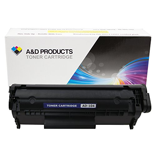 A&D Products Compatible Replacement for Canon 104 Toner Cartridge Black (2,000 Page Yield) For use with select imageCLASS Faxphone printers