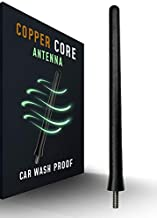The Original 6 3/4 Inch - Car Wash Proof Short EPDM Rubber Antenna - USA Stainless Steel Threading - Powerful Internal Copper Coil/Premium Reception