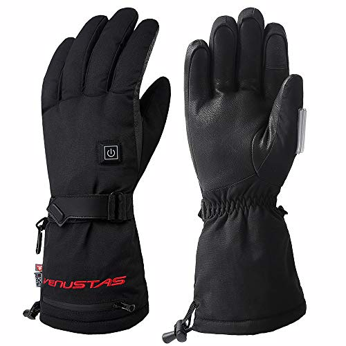 Venustas Heated Gloves for Men and Women, Rechargeable Heated Gloves and Winter Gloves ski Gloves Heat up to 8 Hours