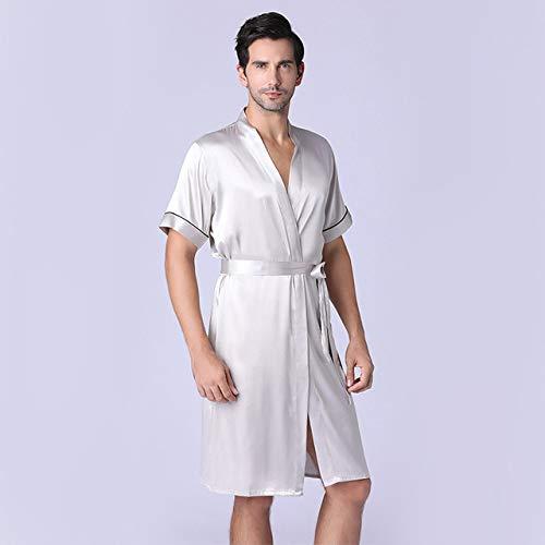 Handaxian Frühling und Herbst New Long Sleeve Robe Herren Bademäntel Silk Herren Robe Home Service