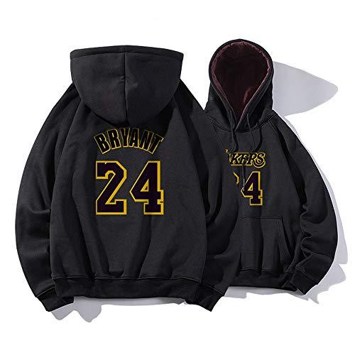 Los Angeles Lakers, Kobe Bryant, Größe 24, Plüsch-Hoodie, Sweatshirt, Langarm, Basketball-Pullover, Geeignet Für Frühling, Herbst Und Winter,L-A