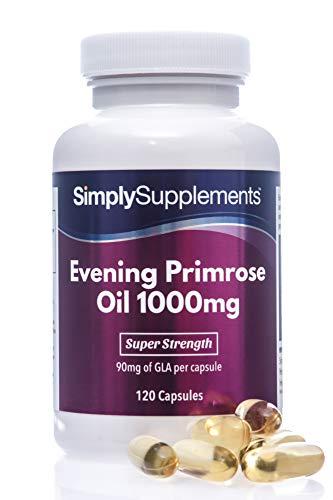 Olio di Enotera 1000 mg - 120 capsule - 4 mesi di trattamento - SimplySupplements