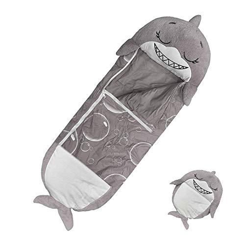 ZYW Saco De Dormir para Niños Unicornio Dibujos Animados De Animales Feliz Y Cálido Bebé Súper Suave Manta De Muñeco De Peluche Muñeca Juguete Pequeño Niño Año Nuevo Tiburón
