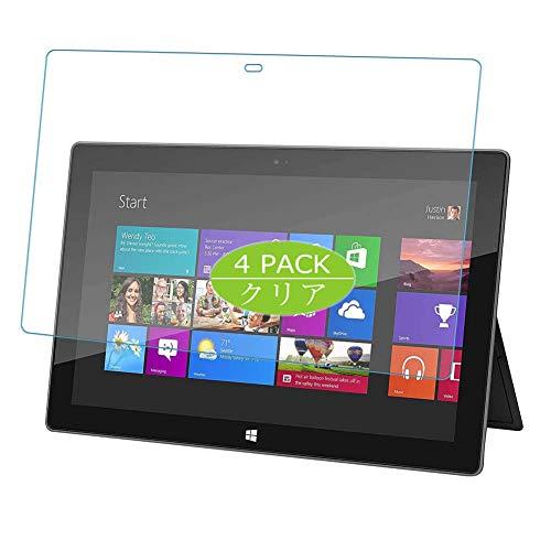 VacFun 4 Piezas Claro Protector de Pantalla, compatible con Microsoft Surface 2 / Surface RT 10.6', Screen Protector Película Protectora(Not Cristal Templado) NEW Version