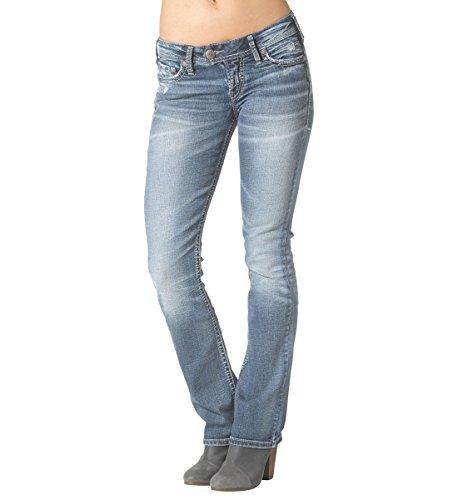 Silver Jeans Co. Women's Tuesday Low Rise Slim Bootcut Jean, Medium Indigo Wash, 27W X 33L