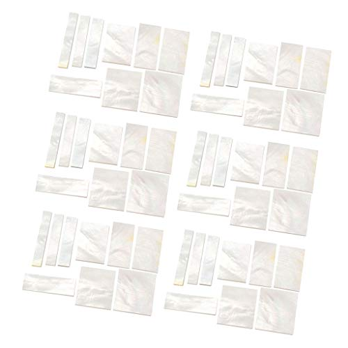 Shiwaki 54 Stk. DIY Inlays Marker Blank Material Für Gitarre Griffbrett Hals, Gitarre Mandoline DIY Zubehör, Weiß